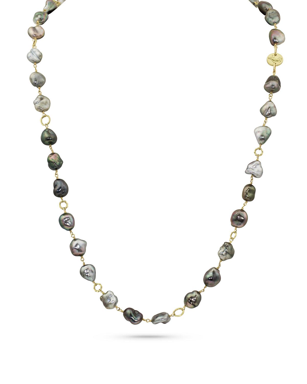 18k Tahitian Keshi Pearl Layering Necklace