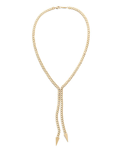 14k Double-Drop Casino Lariat Necklace