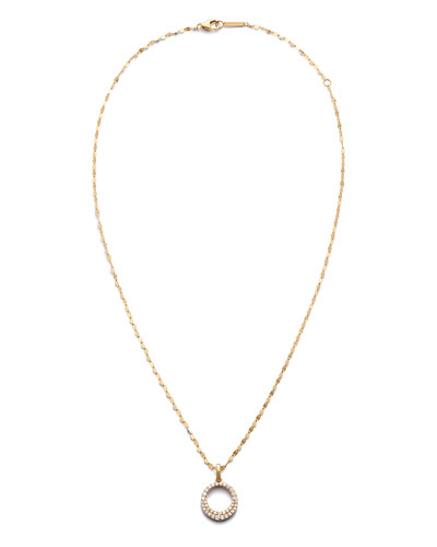 Jewels By Lux 14K Yellow Gold Letter Lowercase Script Initial Necklace