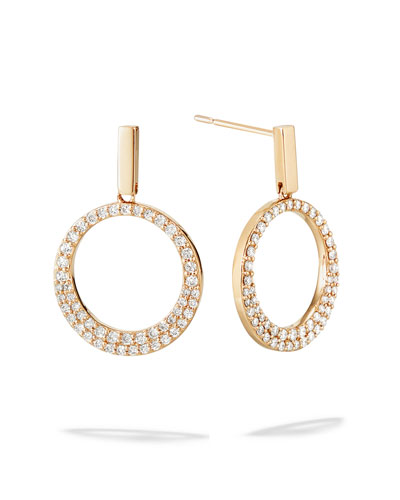 Flawless 14k Diamond Bond-Link Earrings