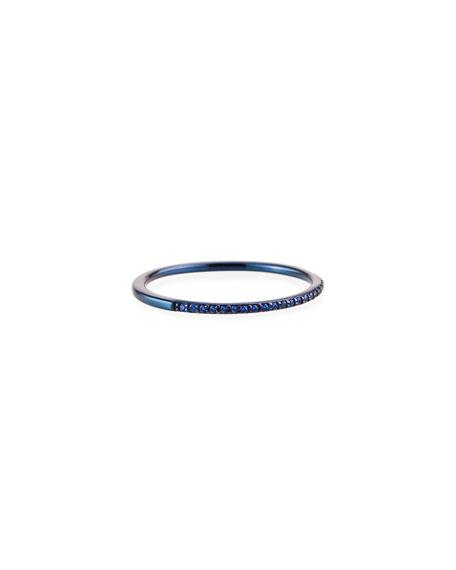 Lana 14k Blue Gold Blue Sapphire Stack Band, Size 6
