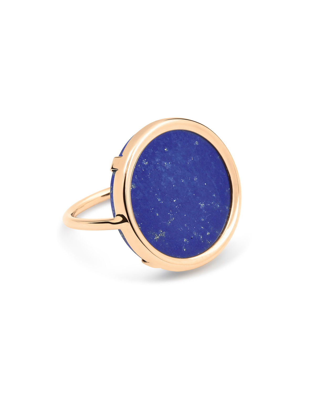 Ever 18k Rose Gold Lapis Disc Ring