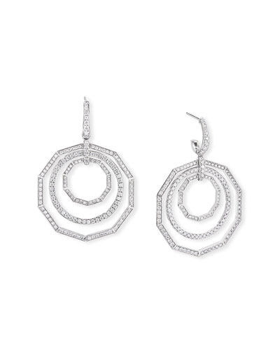 Stax 18k White Gold Diamond Extra-Large Drop Earrings