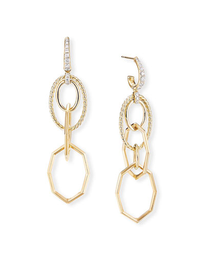 Stax 18k Yellow Gold Mobile Drop Earrings w/ Diamonds