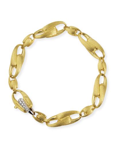 Lucia 18k Gold Bracelet w/ Diamond Link