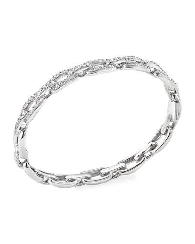 Stax 18k White Gold Diamond Link Bracelet, Size S