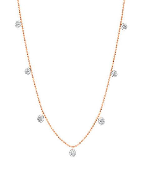 Graziela Gems 18k Rose Gold Floating Diamond Necklace