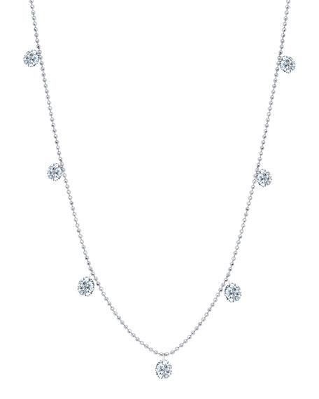 Graziela Gems 18k White Gold Floating Diamond Necklace