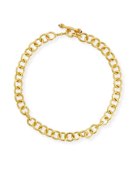 Elizabeth Locke Montecatini 19k Link Necklace
