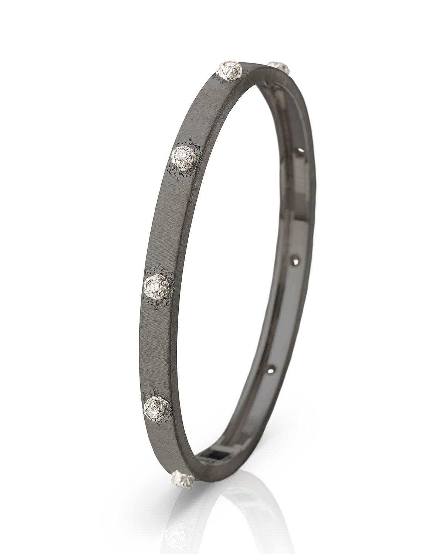 Macri Classica 18k White Gold Diamond Bangle