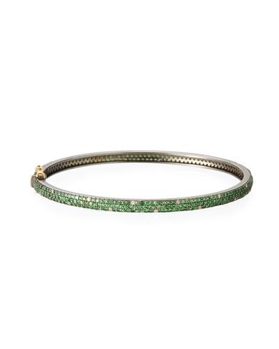 Tsavorite & Scattered Diamond Bracelet