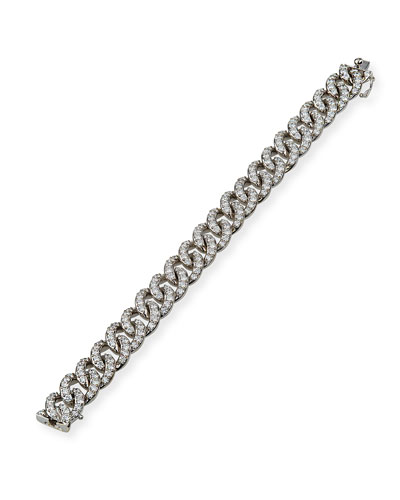 18k White Gold Diamond Link Bracelet