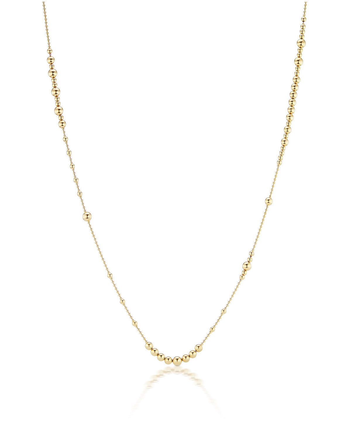 18k Multi-Size Ball-Chain Necklace
