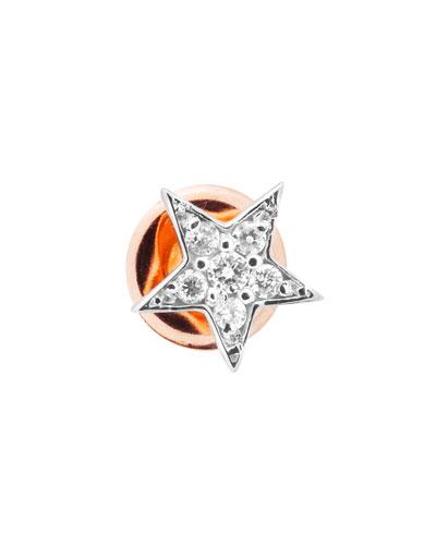 Heroine 14k Diamond Star Stud Earring, Single