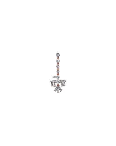 Innerland 14k Rose Gold Mini Falcon Diamond Drop Earring, Single