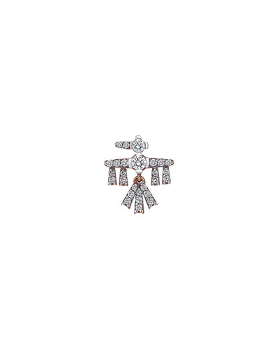 Innerland 14k Mini Falcon Diamond Earring, Single