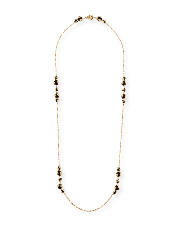 Cardan 18k Yellow Gold Black Onyx Necklace