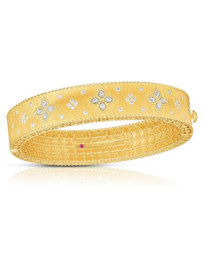 18k Gold Venetian Princess Diamond Bangle