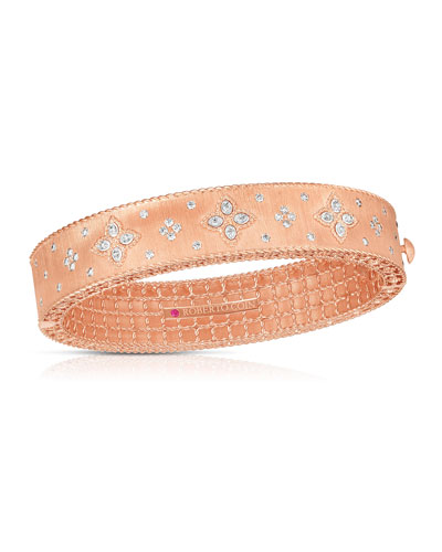 18k Rose Gold Venetian Princess Diamond Bangle
