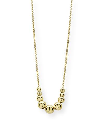 Caviar 18k Gold Graduated Bead Necklace