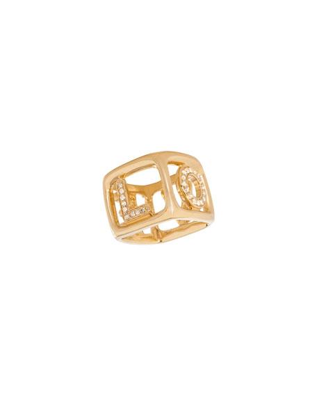 Sydney Evan 14k Diamond LOVE Box Ring, Size 6/7