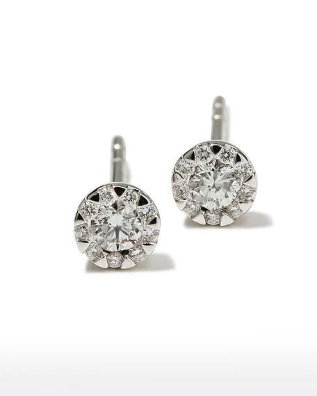 Memoire 18k White Gold Diamond Bouquet Stud Earrings