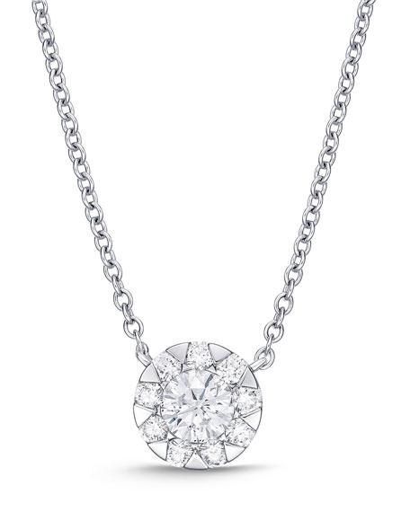 Memoire 18k White Gold Diamond Bouquet Fashion Necklace, 0.66tcw