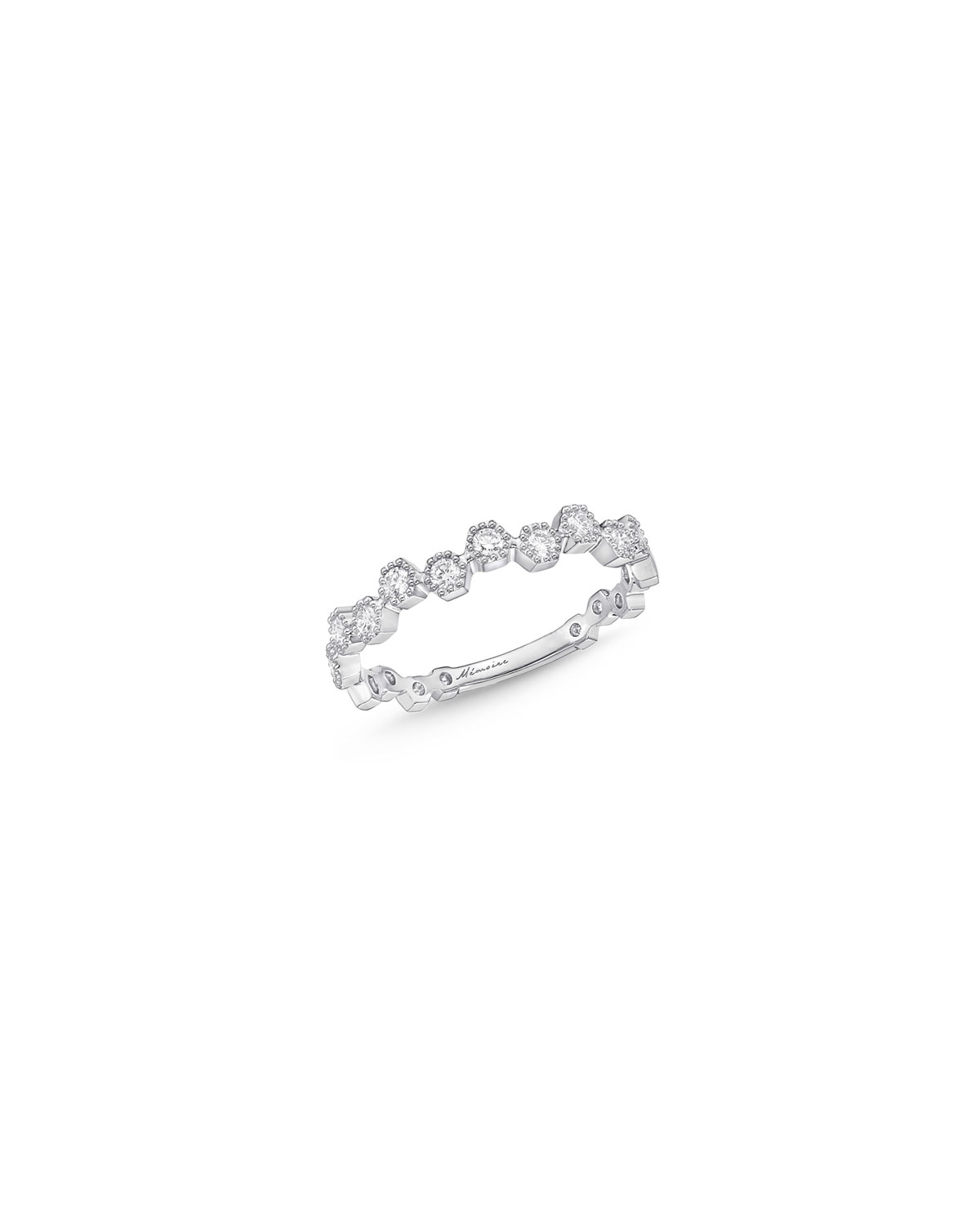 Stackables 18k White Gold Scattered Diamond Ring