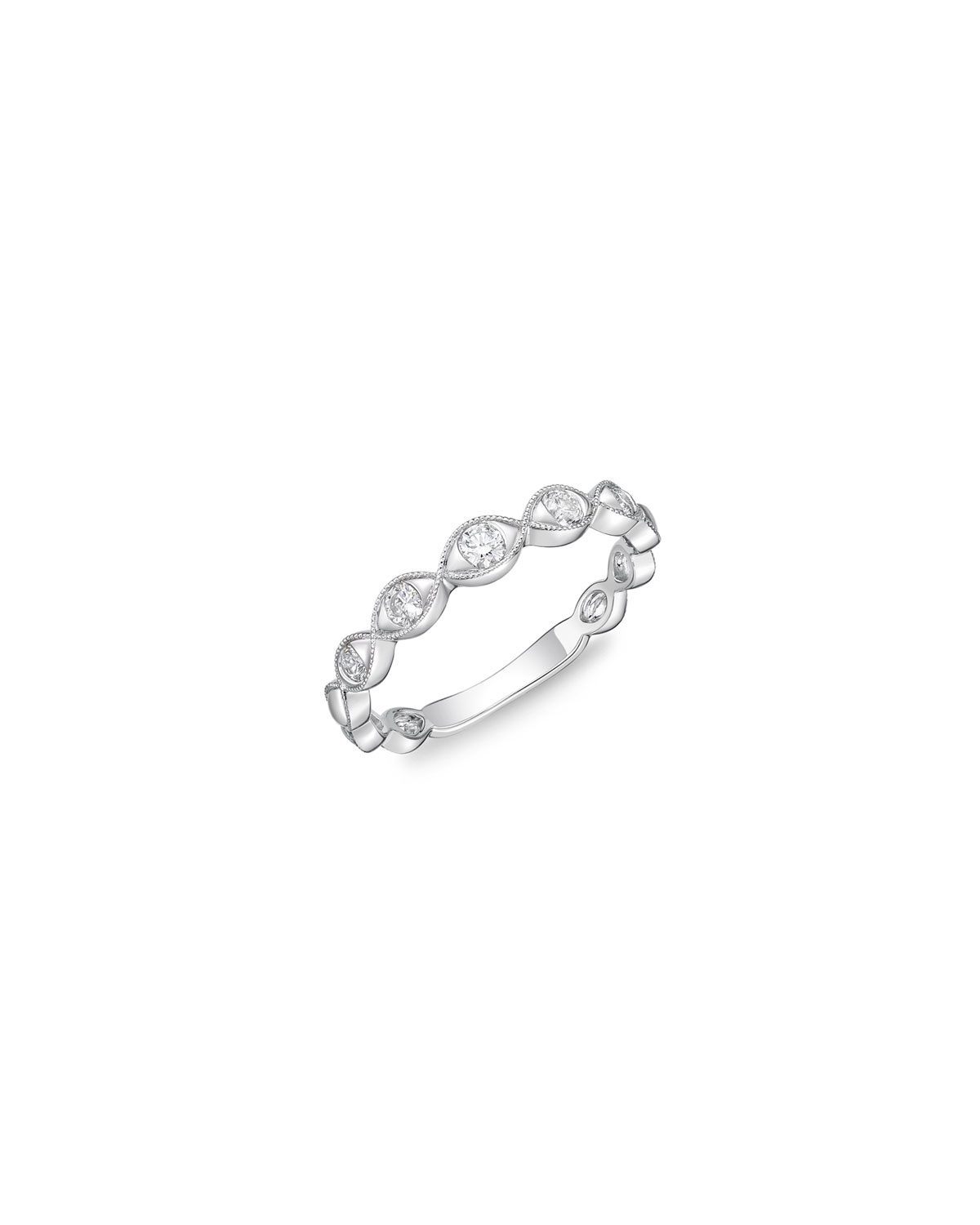 Stackables 18k White Gold Diamond Marquise Ring