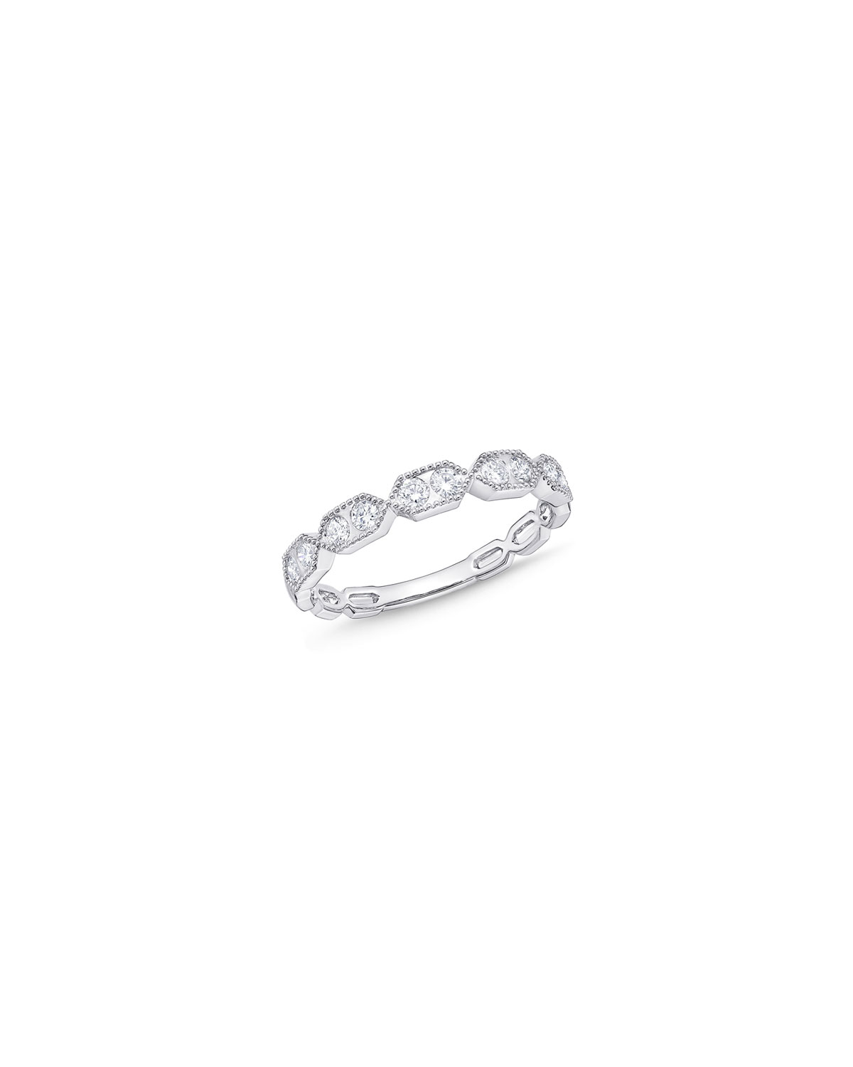 Stackables 18k White Gold Coupled Diamond Ring