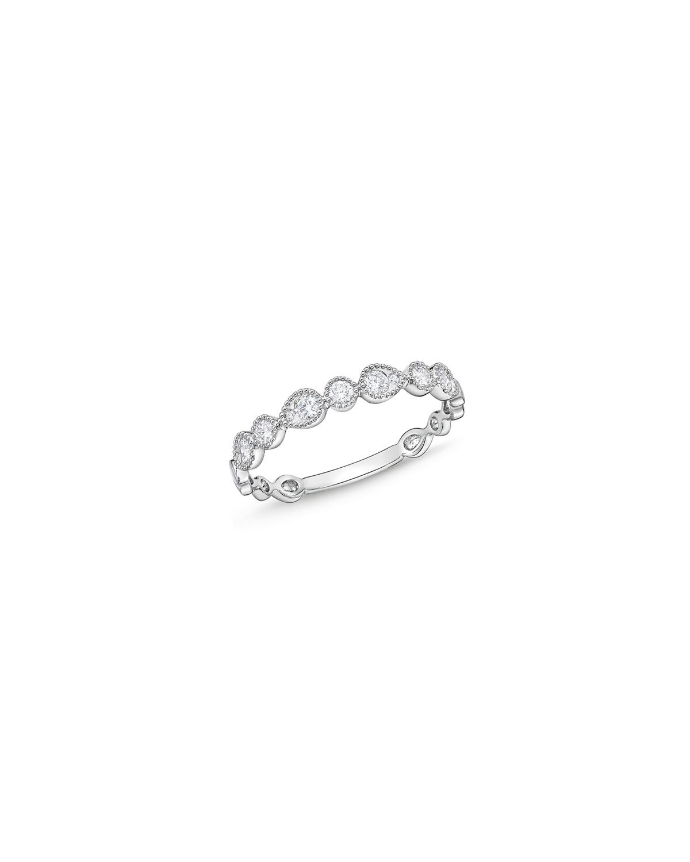 Stackables 18k White Gold Half-Round Diamond Ring