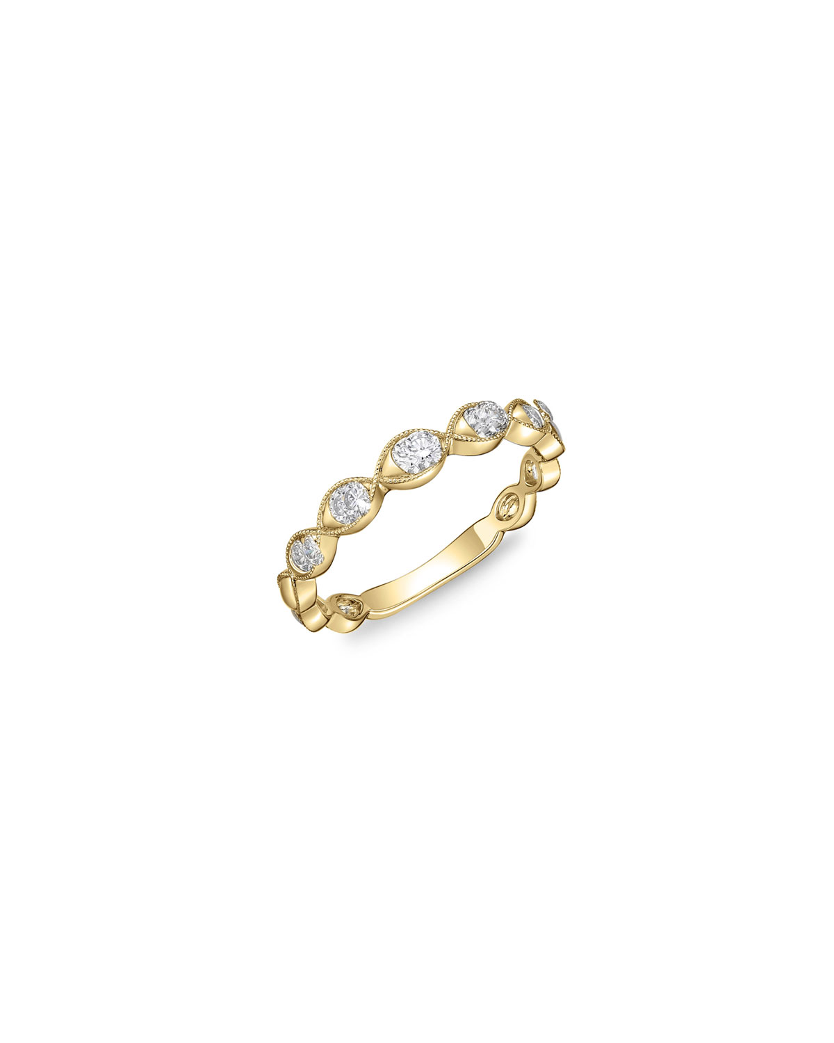 Stackables 18k Yellow Gold Diamond Marquise Ring