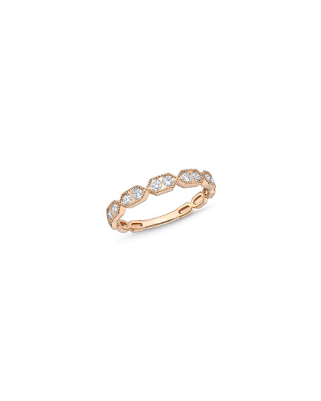 Memoire 18k Rose Gold Diamond Half-Band Ring