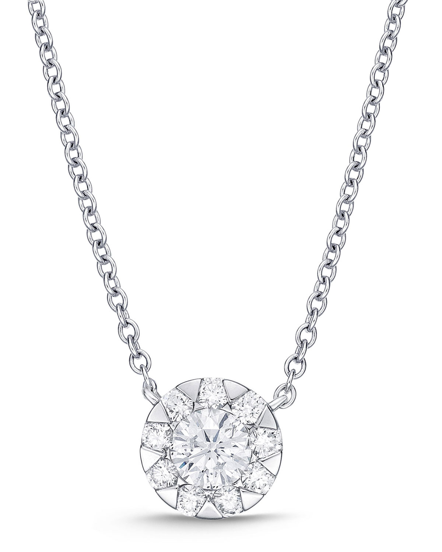 18k White Gold Diamond Bouquet Fashion Necklace