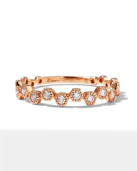 Memoire 18k Rose Gold Diamond Stack Ring