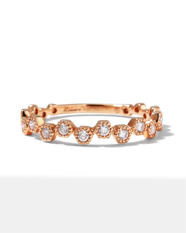 18k Rose Gold Diamond Stack Ring