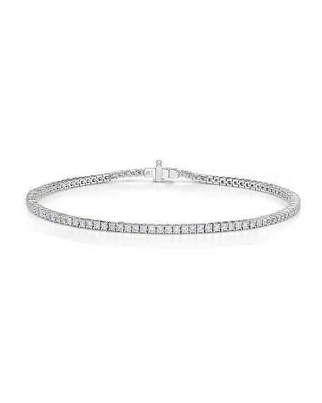 Memoire 18k White Gold Diamond Tennis Bracelet
