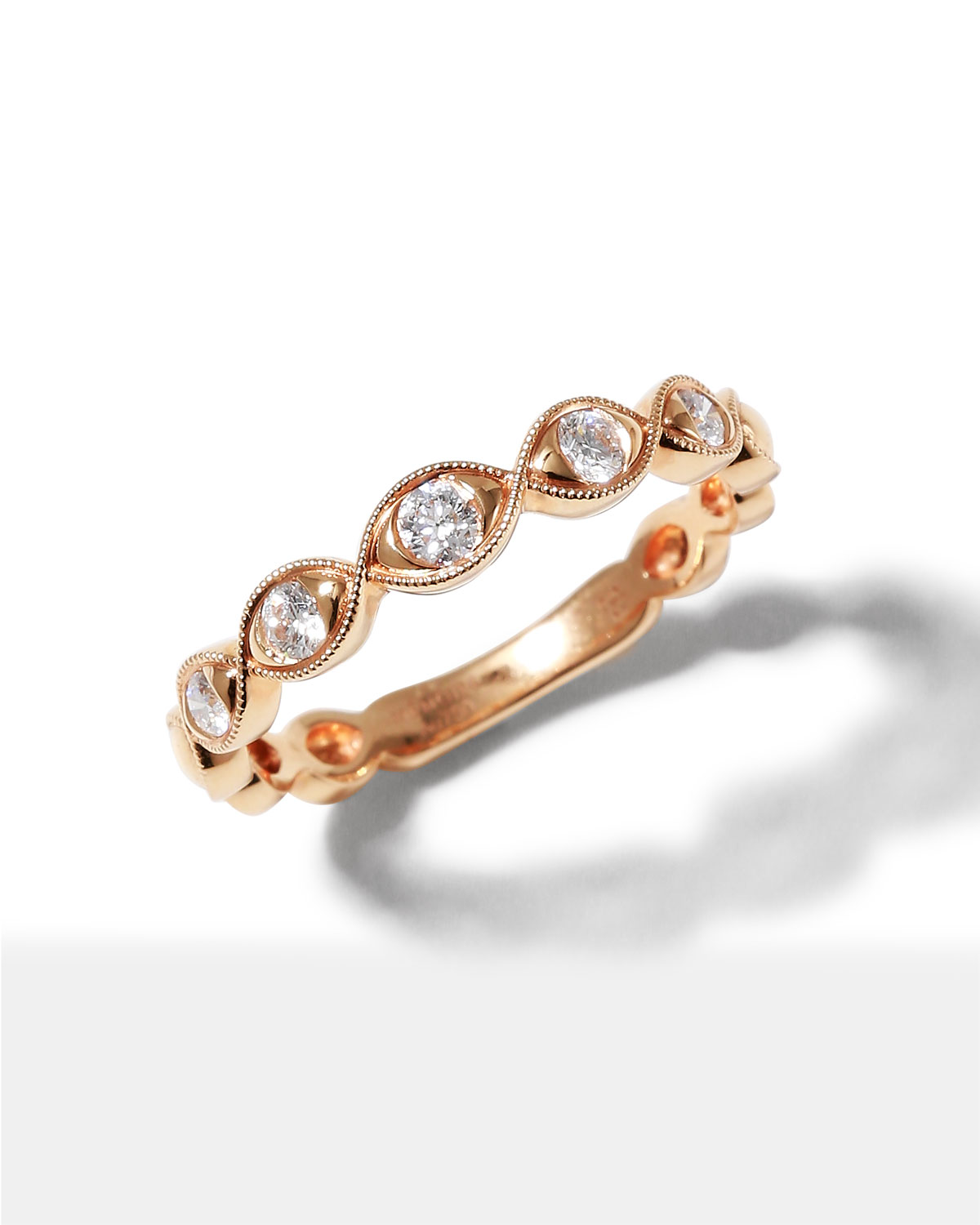 Stackables 18k Rose Gold Diamond Marquise Ring