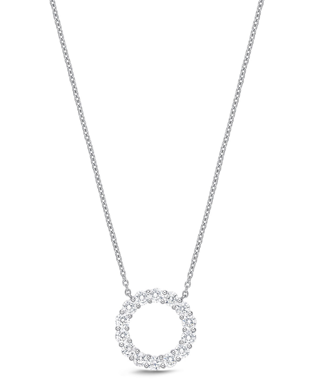 18k White Gold Diamond Circle Necklace