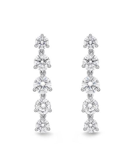 Memoire 18k White Gold Lena Diamond Drop Earrings
