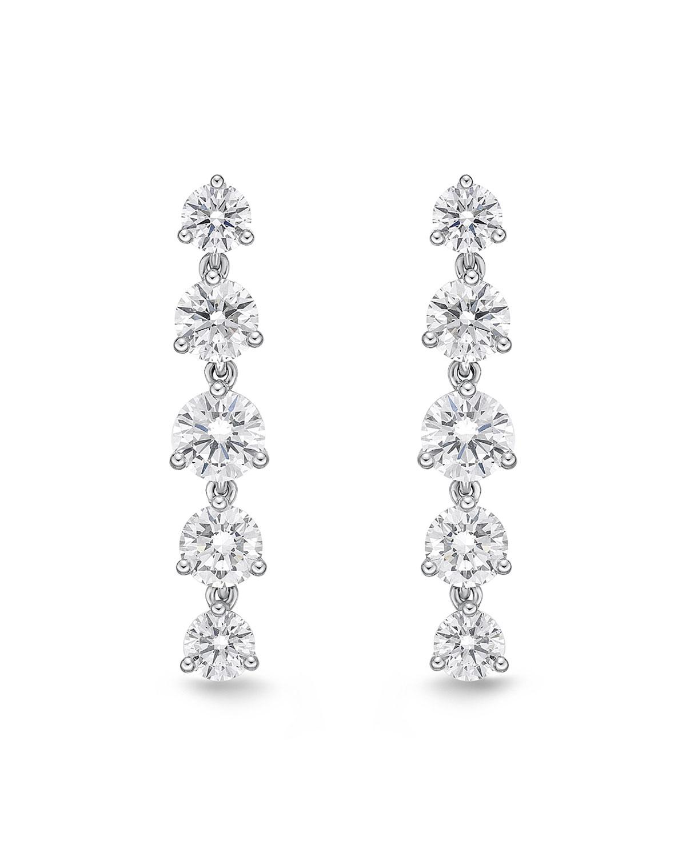 18k White Gold Lena Diamond Drop Earrings