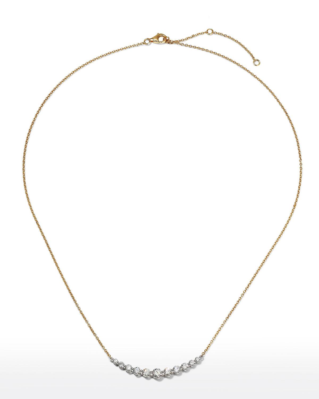 18k Gold Diamond Smile Necklace