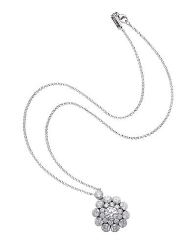 18k White Gold Diamond Magical Setting Necklace