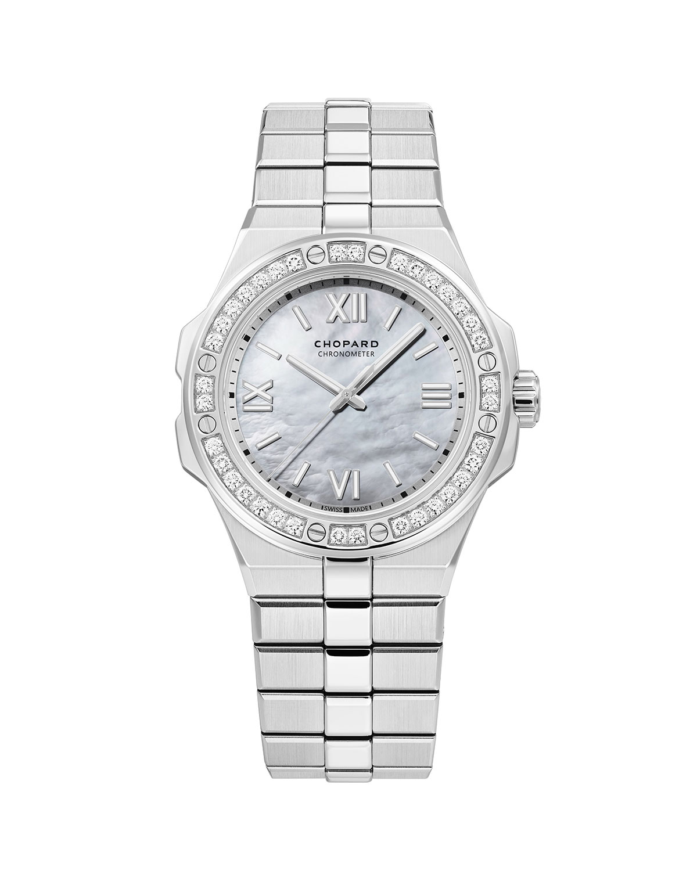 36mm Stainless Steel Diamond Watch w/ Bracelet Strap