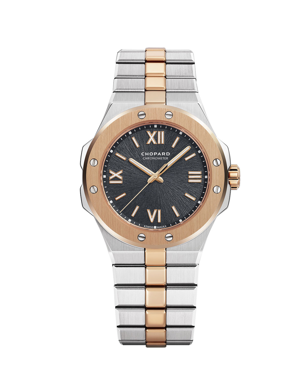 36mm Two-Tone Watch w/ Bracelet Strap