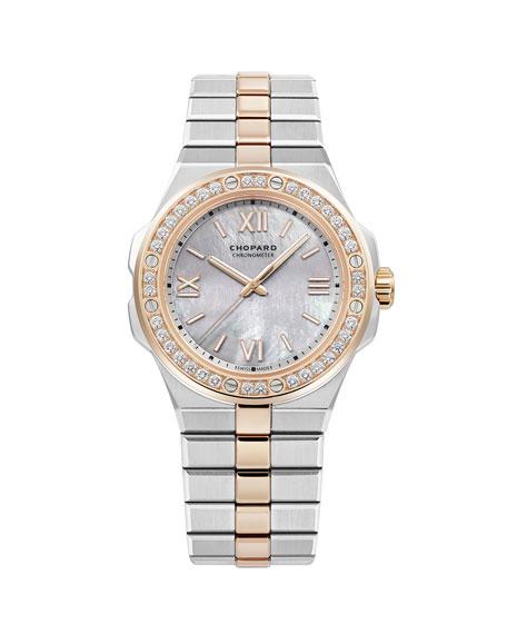 Chopard 36mm Two-Tone Diamond Watch w/ Bracelet Strap