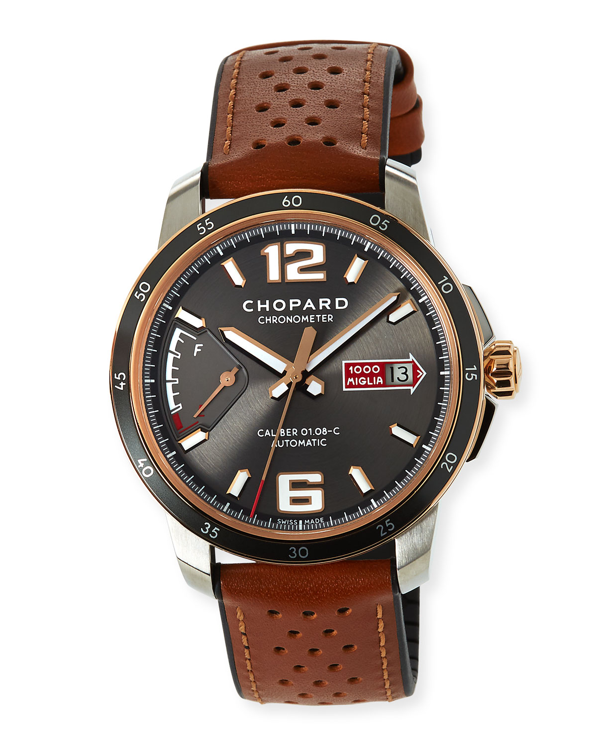 43mm Mille Miglia Watch with Perforated Strap