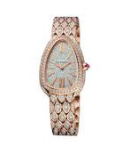 BVLGARI Serpenti Seduttori 33mm Diamond Watch w/ Bracelet,