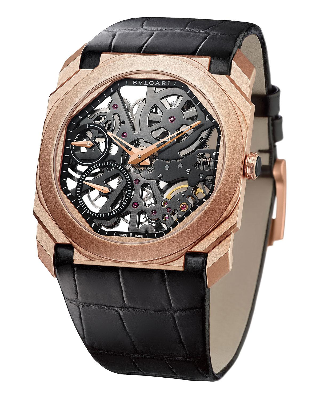 Octo Finissimo Skeleton 18k Rose Gold Watch