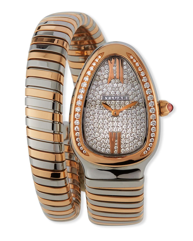 35mm Serpenti Tubogas 18k Gold Wrap Watch